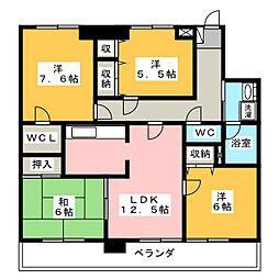 メゾンファミール[4階]の間取り