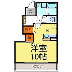 ドリームK[102号室]の間取り