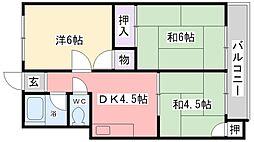 芳栄ハイツ[305号室]の間取り