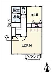 鹿子マンション[3階]の間取り