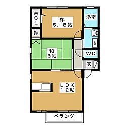 ブランニューコート[2階]の間取り