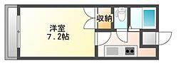 JR赤穂線 西川原駅 徒歩2分の賃貸アパート 1階1Kの間取り