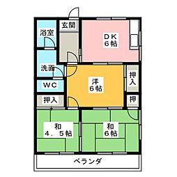 レジデンス妙興寺B棟[2階]の間取り