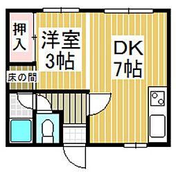 大平マンション[1階]の間取り