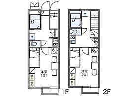 レオパレスリバーポートⅡ[1階]の間取り