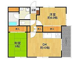 サクシード甲子園[2階]の間取り