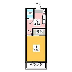 レピュート平針[2階]の間取り