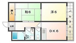 福住マンション[3階]の間取り