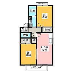 エクセル松下 A[2階]の間取り