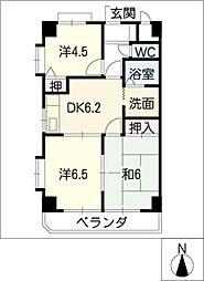 パレスコート[4階]の間取り