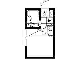 ピアザ武蔵野[2階]の間取り