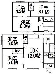 [一戸建] 北海道札幌市西区西野七条8丁目 の賃貸【北海道 / 札幌市西区】の間取り