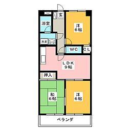 ハピネスTEIKOKU[1階]の間取り