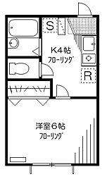 カルム下高井戸[103号室]の間取り