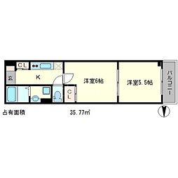 第二下堤谷口マンション[4階]の間取り