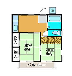 コーポ広栄[2階]の間取り