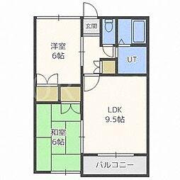 北海道札幌市北区北三十五条西8丁目の賃貸アパートの間取り