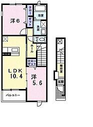 サンパティークI[0203号室]の間取り