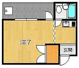 菱田ハイツ[203号室]の間取り