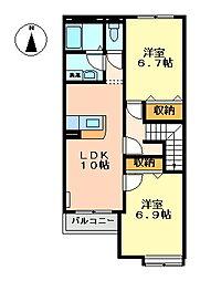 サンシャインシティYSR[2階]の間取り