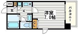 ジュネーゼ大阪城南[5階]の間取り