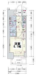 ララプレイス大阪新町ヴェレ 4階1Kの間取り
