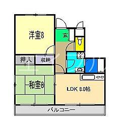 ジェンテ21[3階]の間取り