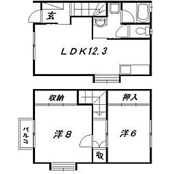 [テラスハウス] 静岡県浜松市東区和田町 の賃貸【/】の間取り