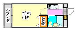 シティクレスト津田沼[313号室]の間取り