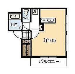 第1三重野ビル[101号室]の間取り