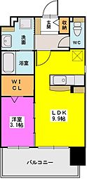 福岡県福岡市中央区薬院伊福町の賃貸マンションの間取り