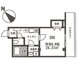 神奈川県横浜市西区中央2丁目の賃貸アパートの間取り