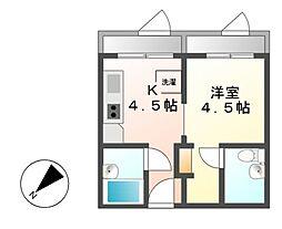 歴町センタービル[5階]の間取り