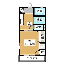 コンフォート・安東[1階]の間取り