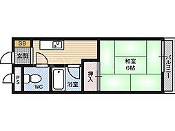 第12イホリ都島マンション[4階]の間取り