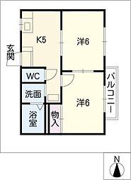 ヴィラ五反田[1階]の間取り