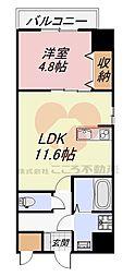 MANDARIN COURT 深井駅前(マンダリンコートフカイエキマエ) 7階1LDKの間取り