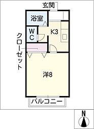 サン・friends安田II[1階]の間取り