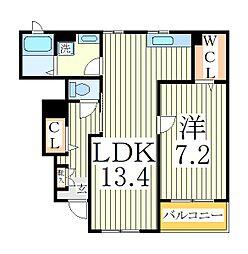 ラフィナートIII[1階]の間取り