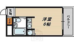 ワットハイム都島[6階]の間取り