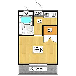ドムス松ヶ崎[1階]の間取り