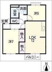 パークハイムトマリD棟[2階]の間取り