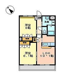 レジアスガーデン[3階]の間取り