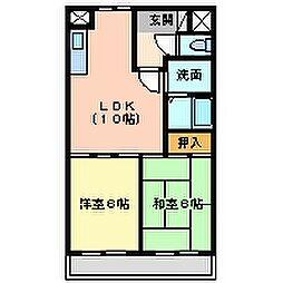 兵庫県尼崎市若王寺1丁目の賃貸マンションの間取り