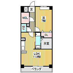 愛知県名古屋市港区入場2丁目の賃貸マンションの間取り