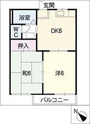 タウニーカワムラA[2階]の間取り