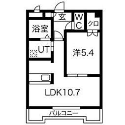 ダイナスティ[3階]の間取り