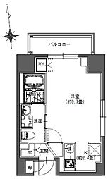 S-RESIDENCE東神田 6階ワンルームの間取り
