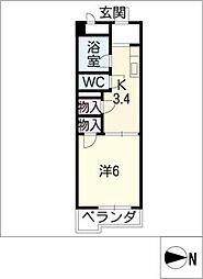 ラフォーレ富士[2階]の間取り