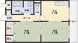 シャトー立田川[3階]の間取り